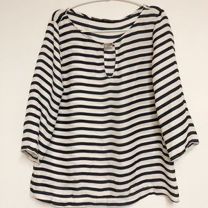 Zara Basic  striped silk top